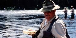 Dave Brandt fly-fishing at Minipi