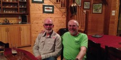 Jeff (left) and myself at Anne Marie Lodge this summer.